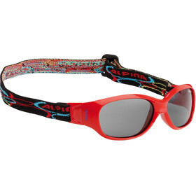 Alpina Sports Flexxy Kids - Lunettes cyclisme - rouge/Multicolore